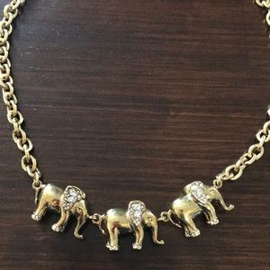 NWOT J. Crew elephant necklace